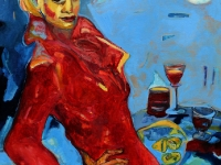 Die rote Frau/ 1994/ Oil on canvas/ 80 x 110 cm