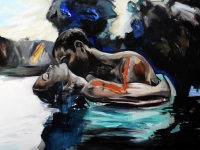 Night Dive/ 2012/ Oil on canvas/ 150 x 100 cm