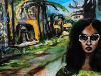 Sommer in Cadiz/ 2011/ Acrylic on canvas/ 100 x 50 cm
