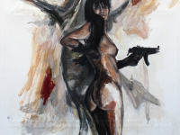 The favorite gun/ 2013/ Oil on canvas/ 140 x 230 cm