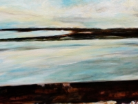 Weit vor Faro/ 2008/ Acrylic on canvas/ 120 x 40 cm