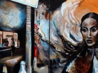 Werkhaus/ 2005/ Acrylic on canvas/Diptychon 2x ( 70 x 60 cm)