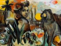Die Geburtstagstorte/ 2003/ Acrylic on canvas/ 130 x 90 cm