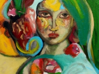Flora/ 2001/ Acrylic on canvas/ 40 x 50 cm