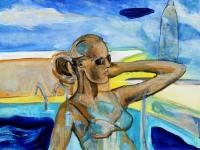 Sonnenbad/ 2001/ acrylic on canvas/ 120 x 80 cm