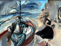 The Absent One& Sandys patient Passion for Paris/ 2012/ Oil on wooden panel/ 135 x 95 cm
