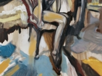 Flokati feeling/ 2014/ Oil on canvas/40x120 cm/ Mary Dee