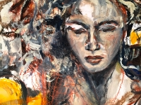 Lovers/2015/ Oil on paper/ 70x100cm/ Detail/ Mary Dee