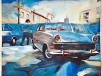 Erst die lange Suche nach dem Meer und nun dies  / 2002/ Acrylic on photo canvas/ 120 x 100 cm