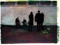 Einsamer Kunsthallentango /2007/ Acrylic on photographic paper/ 29,5 x 21 cm