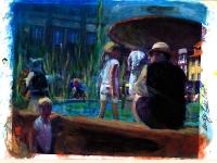 Im Brunnen/2007/ Acrylic on photographic paper/29,5 x 21 cm