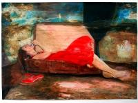 Tine träumt von Ameland/ 2007/ Acrylic on photographic paper/ 29,5 x 21 cm