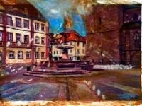 Bürokratie im Aufwind 2008/ Acrylic on photographic paper/ 29,5 x 21 cm