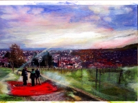 Der beste Landeplatz/ 2008/ Acrylic on photographic paper/ 29,5 x 21 cm