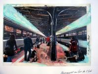 Schwergewicht am Gare de L`Est/ 2008/ Acrylic on photographic paper/ 29,5 x 21 cm