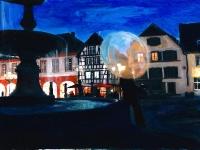 Blaue Stunde am Marktplatz/ 2012/Acrylic on photographic paper/ 29,5 x 21 cm