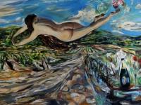 Winzertraum / 2013/ Öl auf Leinwand/ Oil on canvas 350 x 110 cm