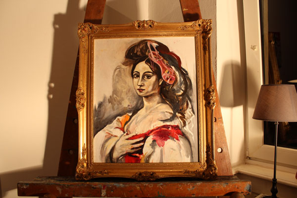 high heel/ 2011/ Oil on canvas/ 50x 60cm/ Mary Dee