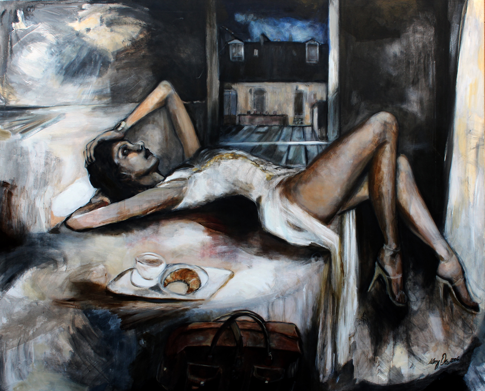 Dolores in P.  / 2006 / Acrylic on Canvas / 200 x 160 cm