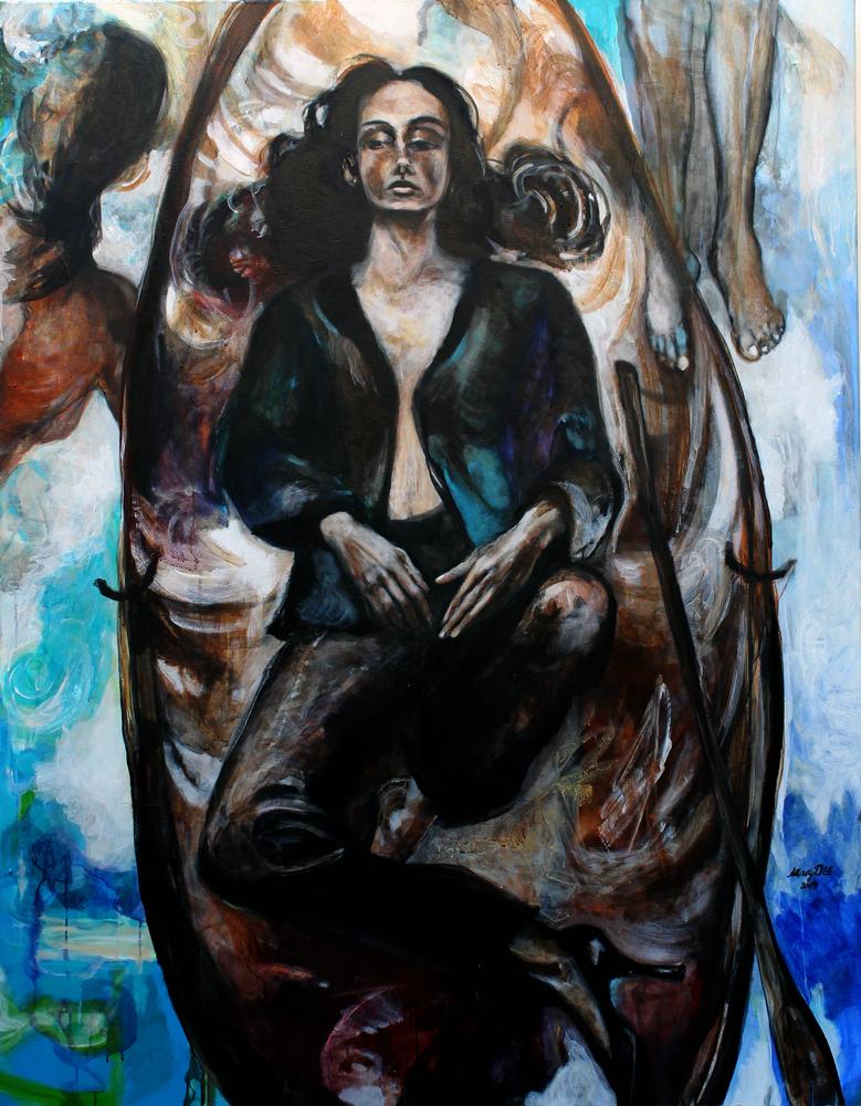 Gezeiten/ Tides / 2004 / Acrylic on canvas / 140 x 180 cm