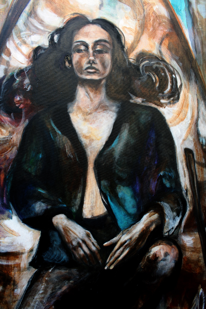 Gezeiten/ Tides / 2004 / Acrylic on canvas / 140 x 180 cm/ Detail