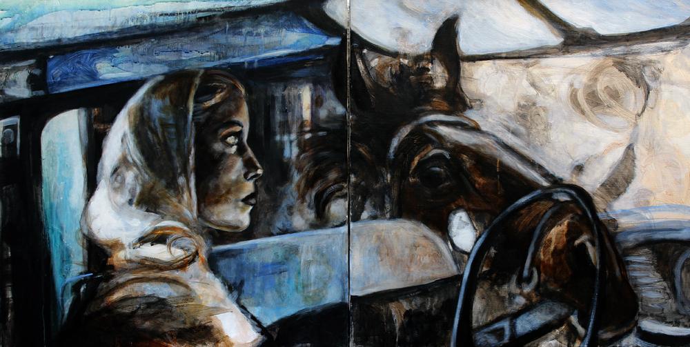 Rodeo Drive 2005/ Acrylic on canvas/ Diptychon 2x ( 60 x 60 cm)