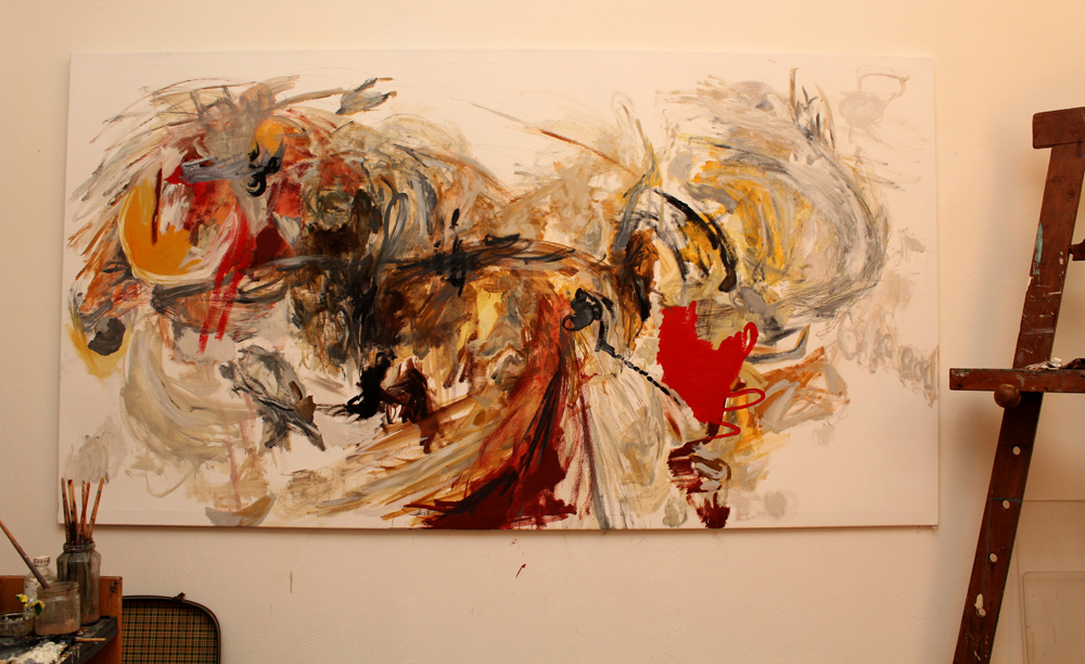 Correspondence/ 2013/ Oil on canvas/ 250 x 135 cm