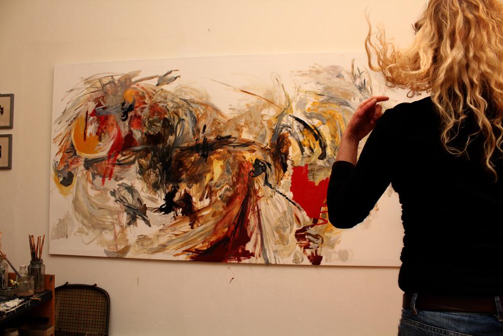 correspondence/ 2014/ Oil on canvas/ 250 x 135 cm